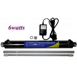 Kit sterilizzazione acqua ultravioletto 6watts